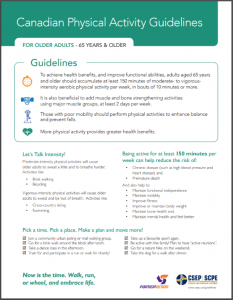 CSEP Physical Activity Guidelines 65+
