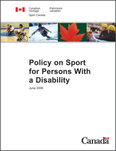 Sport for Persons with a Disability